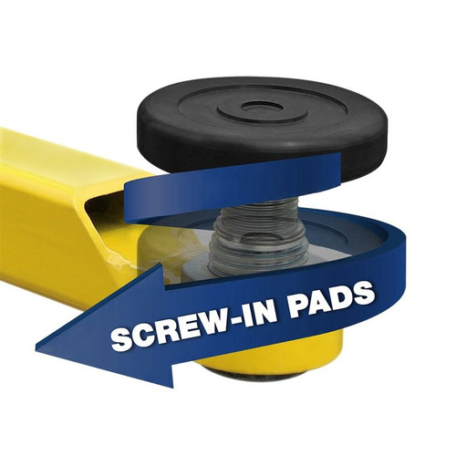 BendPak 2-Post Telescoping Screw Pad / 60mm Pin / Incl. Polyurethane Tuf-Pad / Set of 4