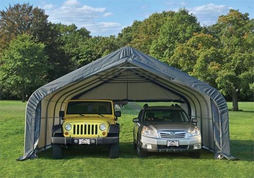 ShelterLogic Garage-in-a-Box 2-Car Garage 18 x 20 x 10.5 ft