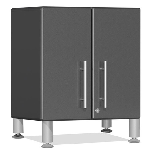 Ulti-MATE Garage 2.0 Series Grey Metallic 2-Door All-Purpose Base Cabinet