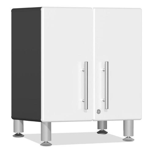 Ulti-MATE Garage 2.0 Series White Metallic 2-Door All-Purpose Base Cabinet
