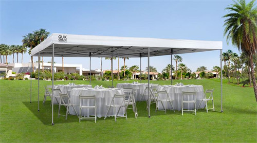 Quik Shade Commercial C289 17 x 17 ft. Straight Leg Canopy - White
