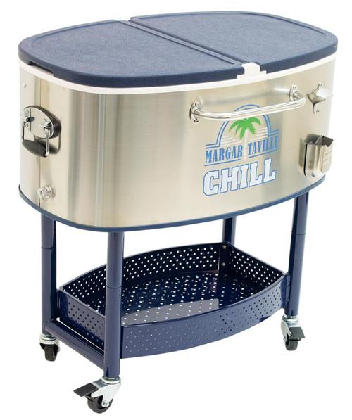 Margaritaville Rolling Oval Stainless Steel Cooler - 82 Quart - Margaritaville Chill
