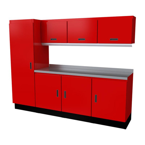 Moduline Select Series 8-Piece Garage Cabinet Set - Red