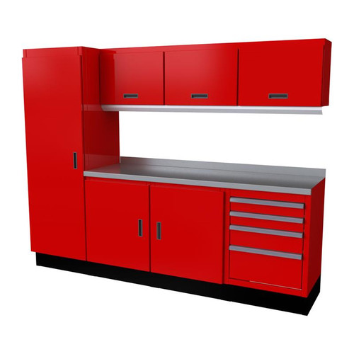 Moduline Select Series 8 Piece Garage Cabinet Set - Red