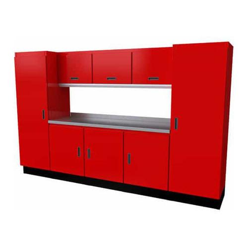 Moduline Select Series 9-Piece Garage Cabinet Set - Red