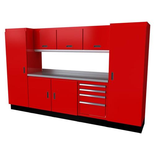 Moduline Select Series 9 Piece Garage Cabinet Set - Red