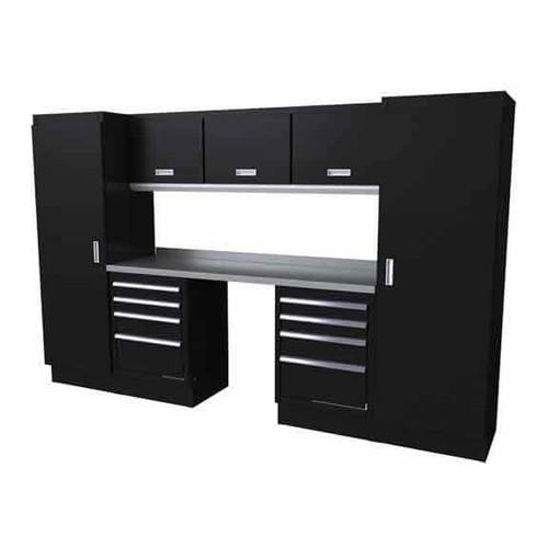Moduline Select Series 9 Piece Garage Cabinet Set - Black
