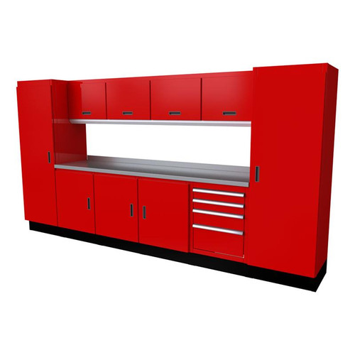 Moduline Select Series 11 Piece Garage Cabinet Set - Red
