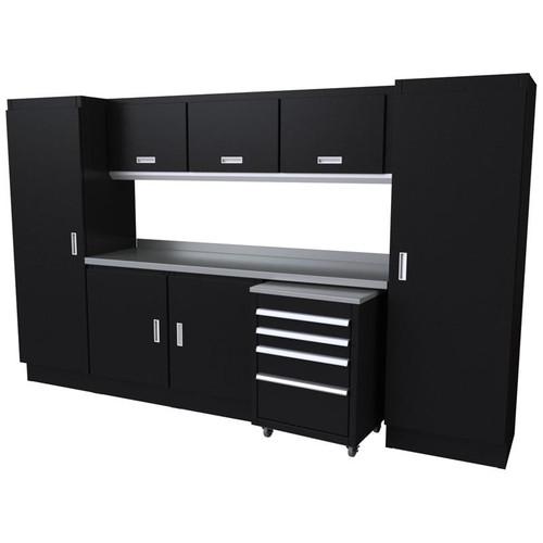 Moduline Select Series 10-Piece Garage Cabinet Set - Black