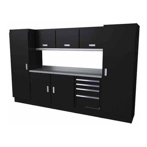 Moduline Select Series 9 Piece Garage Cabinet System - Black