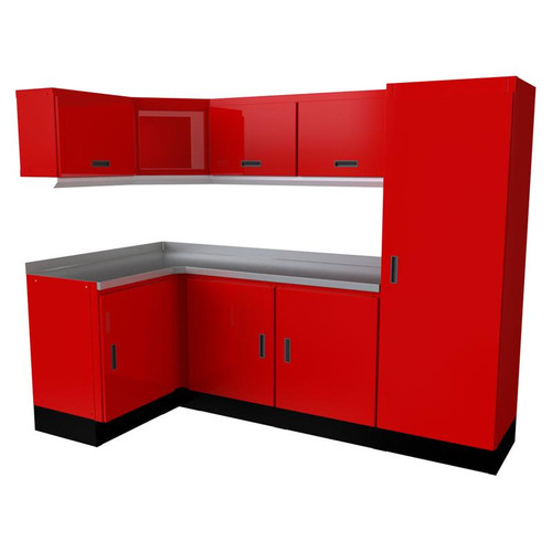 Moduline Select Series 11-Piece Garage Cabinet Set - Red