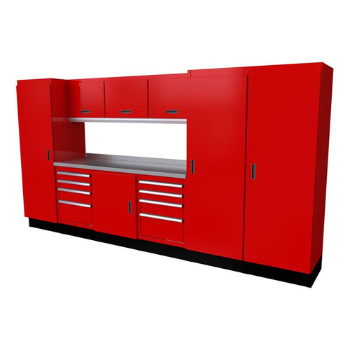 Moduline Select Series 10-Piece Garage Cabinet System - Red