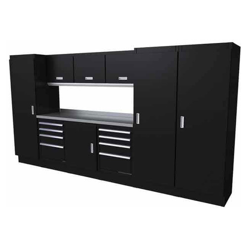 Moduline Select Series 10-Piece Garage Cabinet System - Black