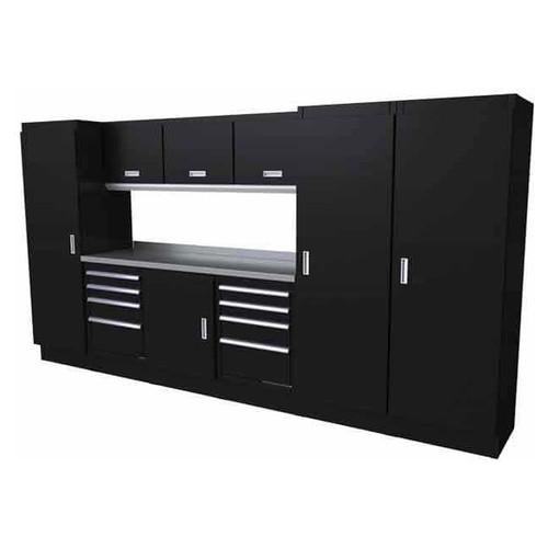 Moduline Select Series 10-Piece Garage Cabinet System - Black