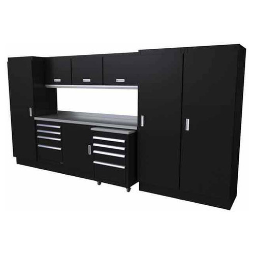 Moduline Select Series 11-Piece Garage Cabinet System - Black