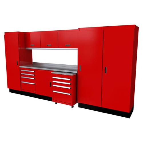 Moduline Select Series 11-Piece Garage Cabinet System - Red