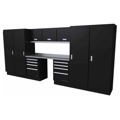 Moduline Select Series 11 Piece Garage Cabinet System - Black