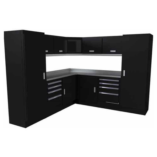 Moduline Select Series 14-Piece Garage Cabinet Set - Black