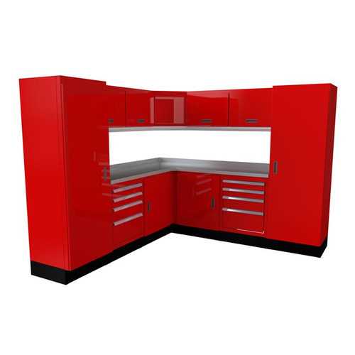 Moduline Select Series 14-Piece Garage Cabinet Set - Red