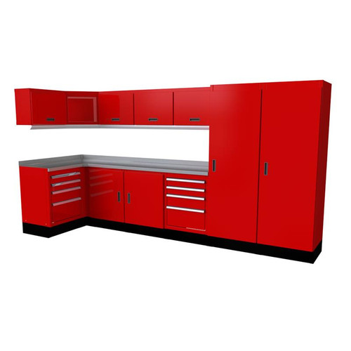 Moduline Select Series 14 Piece Garage Cabinet Set - Red