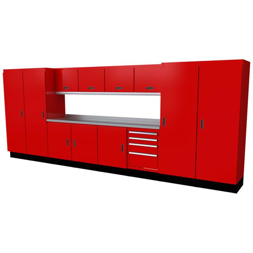 Moduline Select Series 13 Piece Garage Cabinet Set - Red