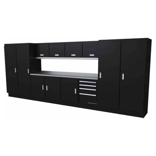 Moduline Select Series 13 Piece Garage Cabinet Set - Black