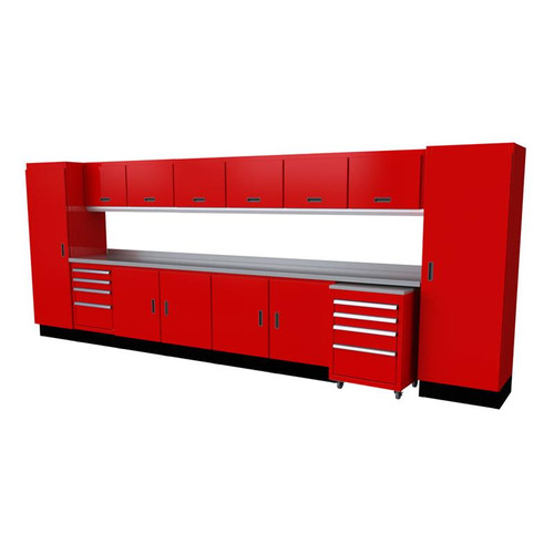 Moduline Select Series 16-Piece Garage Cabinet Set - Red