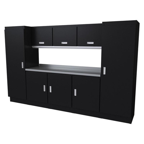 Moduline Select Series 9-Piece Garage Cabinet Set - Black
