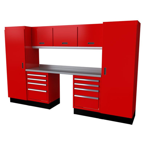 Moduline Select Series 9-Piece Garage Cabinet System - Red