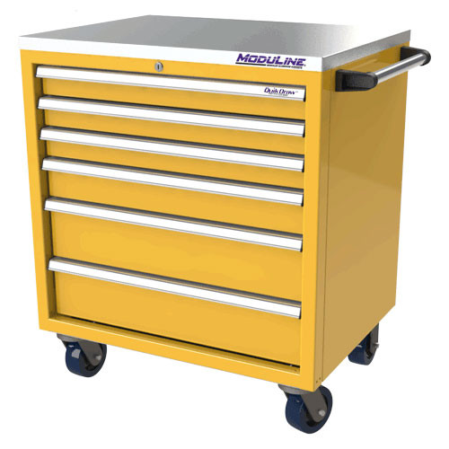 Moduline QuikDraw 32 6-Drawer Aluminum Roller Cabinet