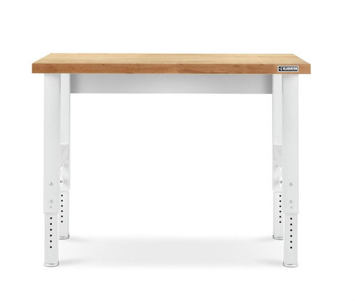 Gladiator Premier White 4' Hardwood Adjustable Height Workbench