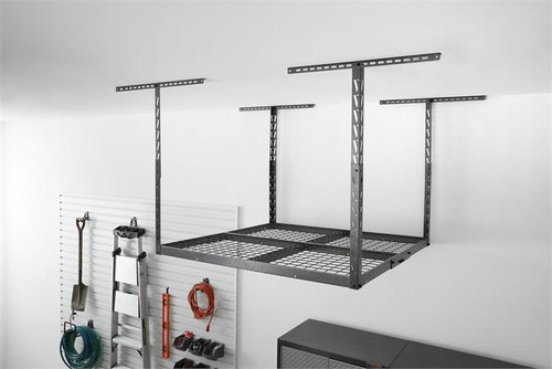Gladiator Overhead GearLoft Storage Rack 4' X 4' - Hammered Granite