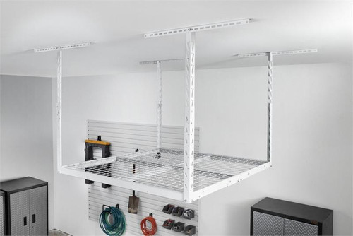 Gladiator Overhead GearLoft Storage Rack 4' X 4' - White