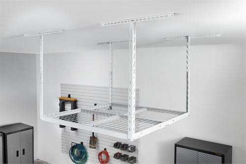 Gladiator Overhead GearLoft Storage Rack 4' X 4' - White