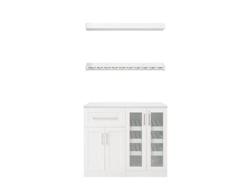 "NewAge Home Bar White 5 Piece Cabinet Set - 21"""