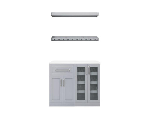 "NewAge Home Bar Grey 5 Piece Cabinet Set - 21"""