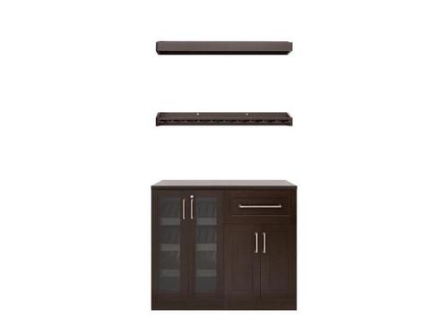 "NewAge Home Bar Espresso 5 Piece Cabinet Set - 21"""