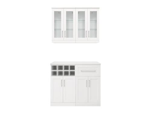 "NewAge Home Bar White 5-Piece Cabinet Set -21"""