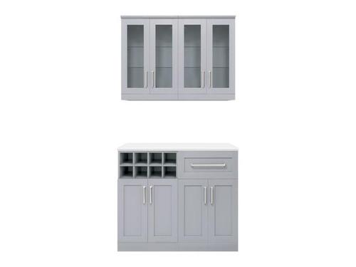 "NewAge Home Bar Grey 5-Piece Cabinet Set -21"""