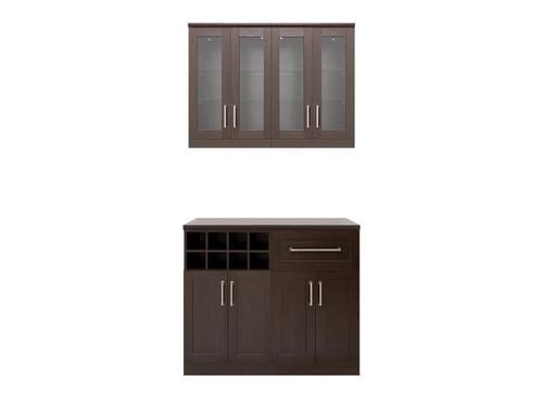 "NewAge Home Bar Espresso 5-Piece Cabinet Set -21"""