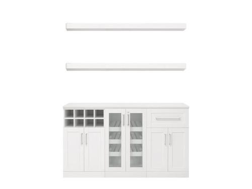 "NewAge Home Bar White 6 Piece Cabinet Set - 21"""