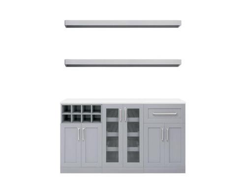 "NewAge Home Bar Grey 6 Piece Cabinet Set - 21"""
