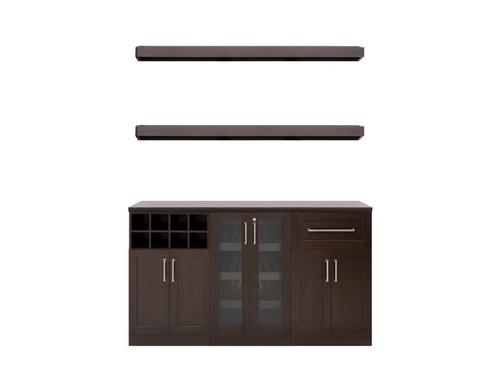 "NewAge Home Bar Espresso 6 Piece Cabinet Set - 21"""