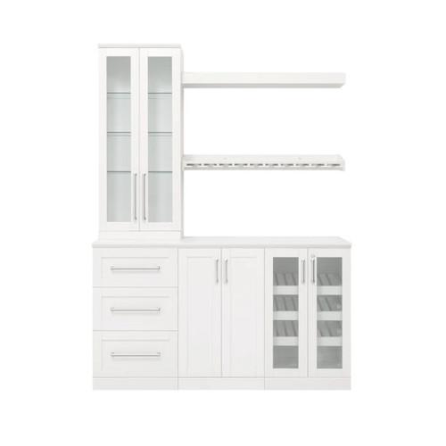 "NewAge Home Bar White 7-Piece Cabinet Set - 21"""