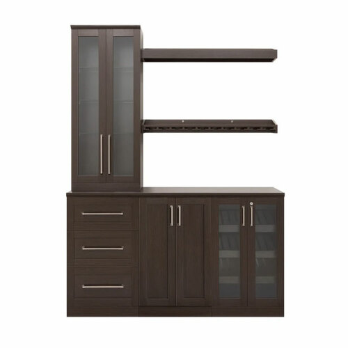 "NewAge Home Bar Espresso 7-Piece Cabinet Set - 21"""