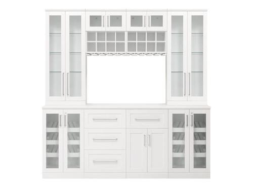 "NewAge Home Bar White 9-Piece Cabinet Set -21"""