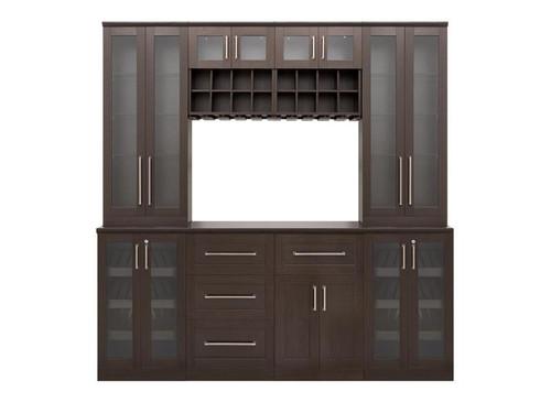 "NewAge Home Bar Espresso 9-Piece Cabinet Set -21"""