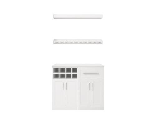 "NewAge Home Bar White 5-Piece Cabinet Set- 21"""