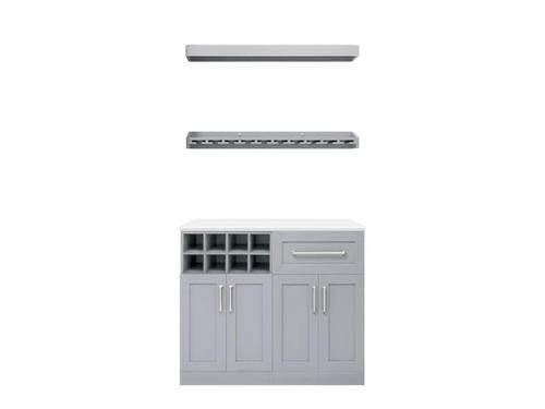 "NewAge Home Bar Grey 5-Piece Cabinet Set- 21"""