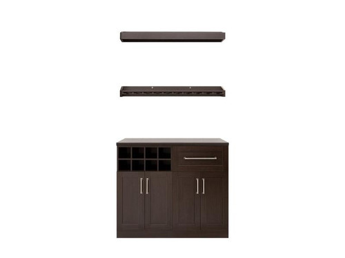 "NewAge Home Bar Espresso 5-Piece Cabinet Set- 21"""